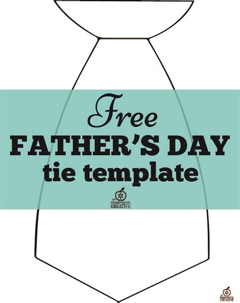 free father s day craft tie template