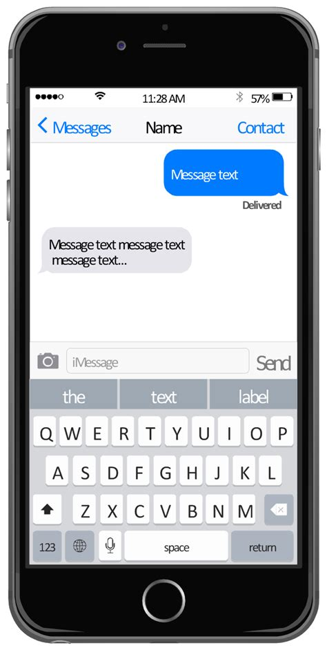 messages template iphone user interface app icons