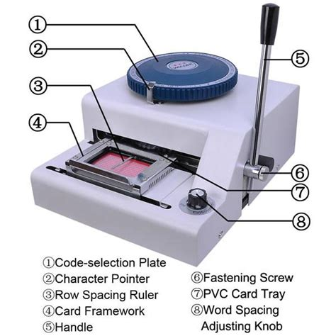 embossing tools for card pvc plastic card manual embosser embossing machine
