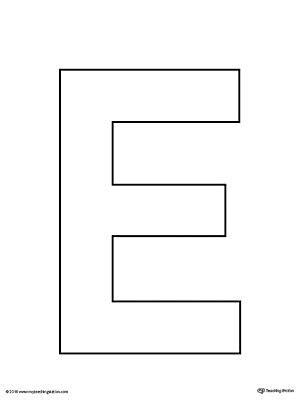 letter e template uppercase letter e template printable letter templates