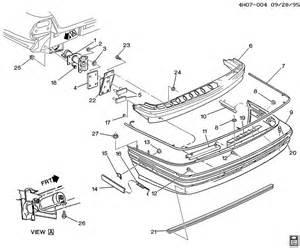Parts For Buick Lesabre 1993 Buick Lesabre Bumper Rear