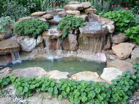 backyard pond waterfalls waterfall pond pictures