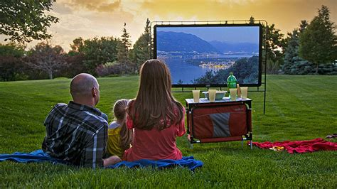 backyard movie screens 120 quot portable outdoor movie screen dudeiwantthat com