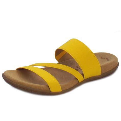 yellow sandals gabor sandals tomcat slip on sandals in yellow