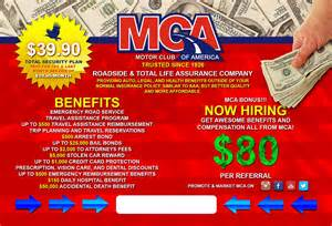 mca business cards motor club of america m c a business card just arrived