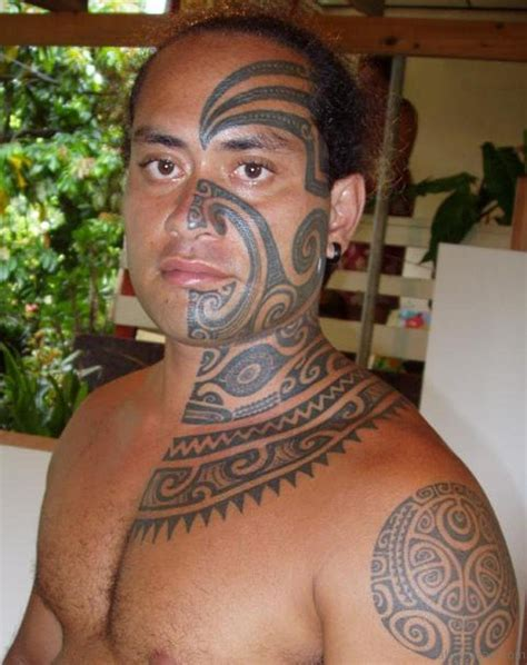 polynesian tribal back tattoos 27 cool hawaiian neck tattoos