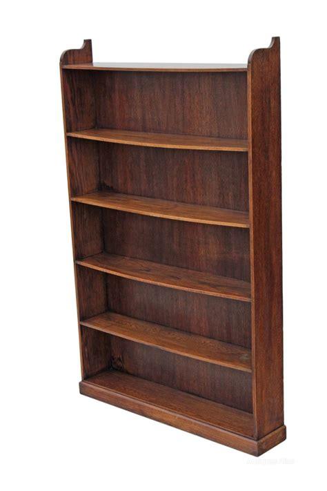 Tall Large Quality Oak Elm Open Bookcase Shelves Quality Bookshelves