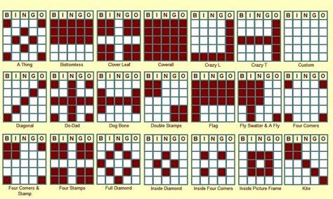 pattern bingo games some bingo patterns pokeno pinterest