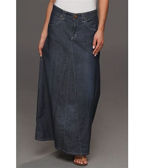 roper blue a line maxi skirt shipped free at zappos