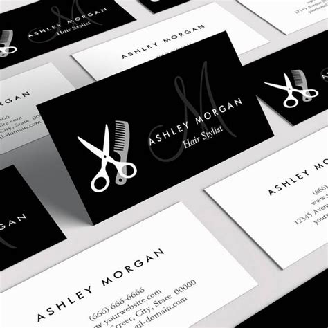 hair stylist business cards templates free card design ideas