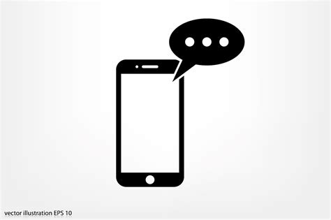 sms on mobile mobile and sms icon vector icons creative market