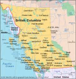 Bc Canada Map british columbia canada emblems map