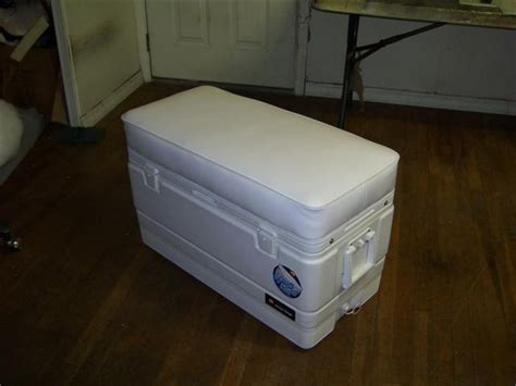 small boat cooler seat igloo cooler topper marine upolstery austin tx