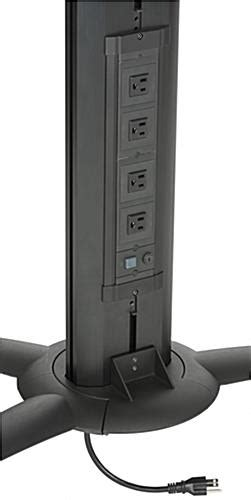 floor standing tv stand  power strip camera tray included