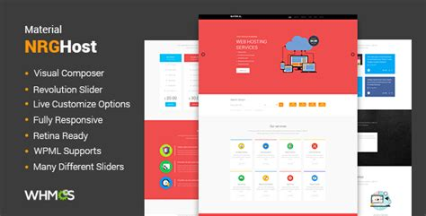 responsive website templates for asp net free download material hosting wordpress theme whmcs download nulled