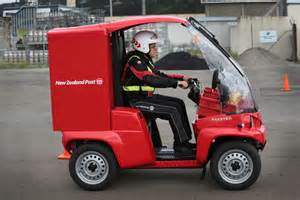 Electric Vehicles New Zealand Posties Try Out Electric Delivery Vehicles Radio New