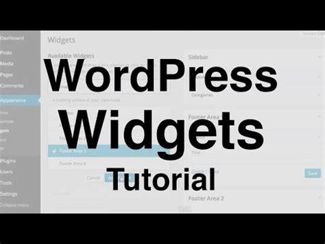 youtube tutorial on wordpress wordpress widgets tutorial youtube