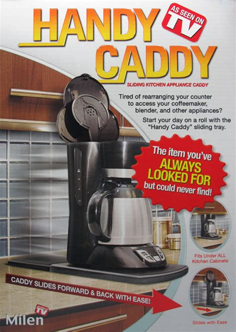 storage handy caddy small appliance caddy as seen on tv milen handy caddy sliding kitchen appliance caddy very