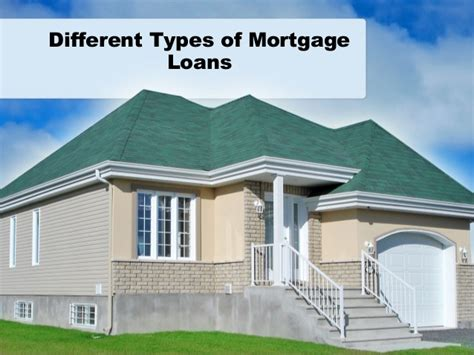 different types of mortgage loans