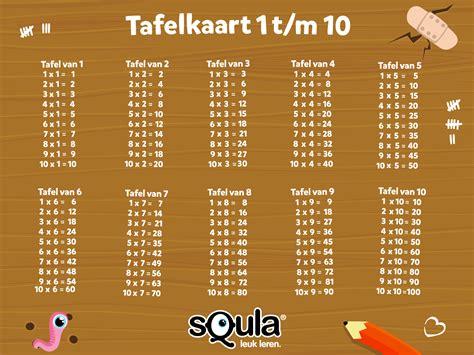 alle tafels van 1 tot 10 squla kleurplaten en puzzels voor kinderen