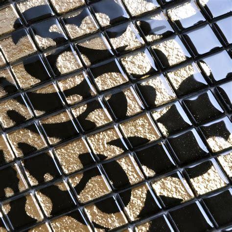 black glass tiles for kitchen backsplashes crystal glass tile black puzzle mosaic tile hominter com