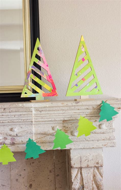 christmas tree garland design improvised