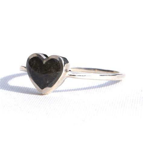 understated white gold cremation jewelry ring
