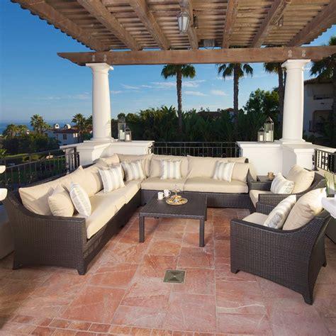 shop rst brands deco 9 wicker patio conversation set