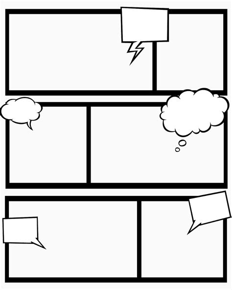 Printable Blank Comic Template For by Sweet Mess Free Printable Comic Book Templates And