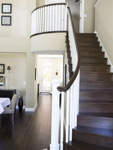dark wood banister 1000 ideas about white banister on pinterest banisters