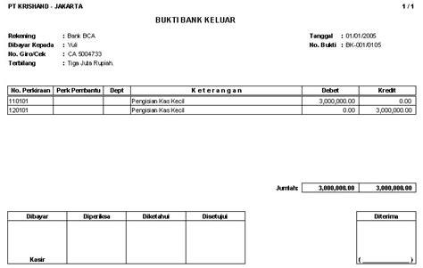 format buku kas masuk dan keluar jurnal penerimaan kas bank