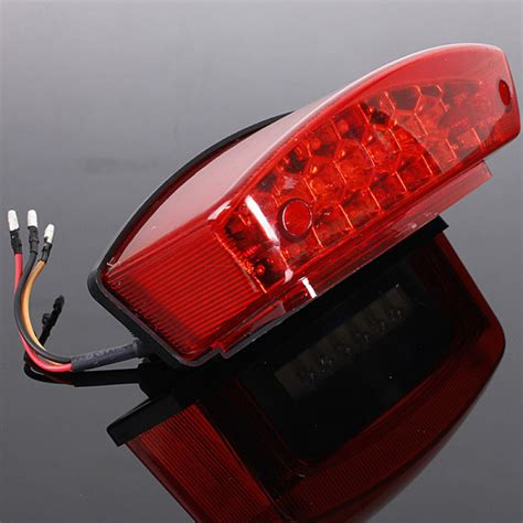 Buy Universal 12v Led Motorcycle Tail Brake Light License Led Brake Light Motorcycle