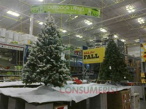 lowe s idea of fall essentials christmas trees consumerist