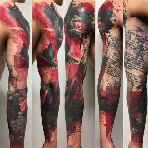 polka trash tattoo style best tattoo ideas gallery