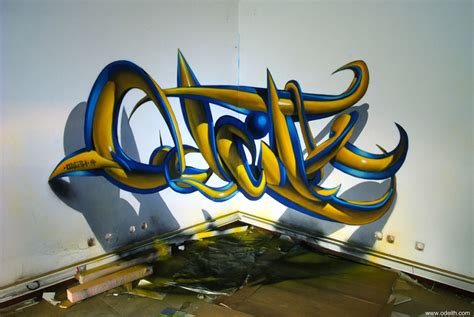 graffiti 3d portuguese artist creates stunning 3d graffiti that