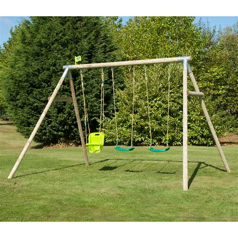 wooden kids swing childrens swings swing sets garden wooden swings