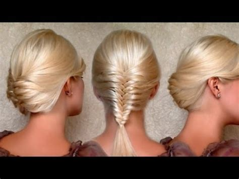 holiday braided updo tutorial medium hairstyle for long hair french fishtail braid and holiday updo hairstyles medium