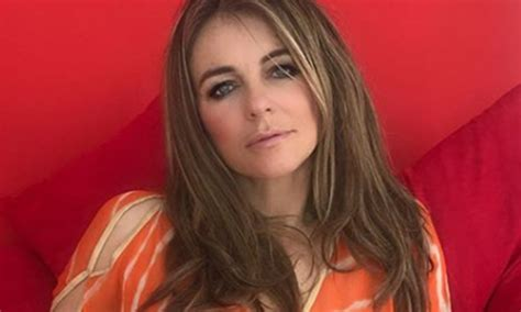 Elizabeth Kaftan Dress elizabeth hurley posts daring photo in glamorous orange kaftan
