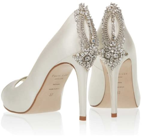 Wedding Shoes With Heel Detail by Wedding Shoes Sparkling High Heels For Winter Weddings