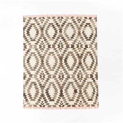 west elm kilim rug palmette chenille wool kilim rug iron 3 x5 to buy