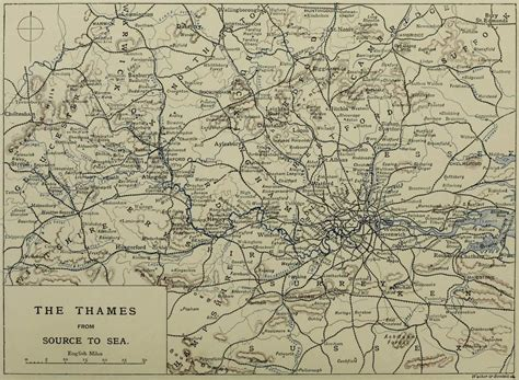 river thames map from source to sea rivers of great britain the thames from source to sea