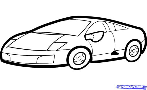 lamborghini drawing how to draw a lamborghini for kids step by step cars for