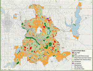 Dallas Zoning Map by Dallas City Parks Blog
