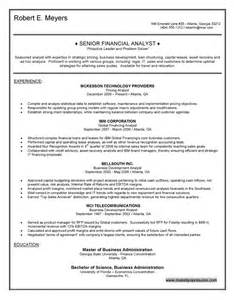 senior financial analyst resume sles advisors resume sales advisor lewesmr