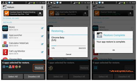 restore apps android how to backup apps and data without root using helium android app the android soul