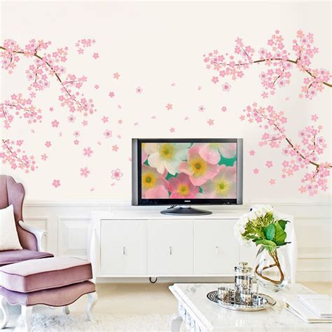 removable wall stickers uk flower wall stickers blossom removable wall decal sticker diy home decor ebay