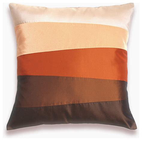 Modern Pillows Orange Rust Brown Pillow Cover 16 In Design