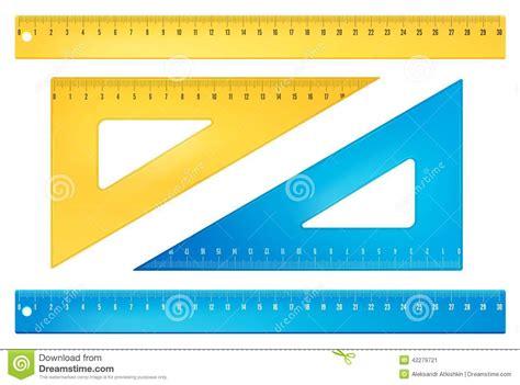 imagenes de utiles escolares reglas reglas azules y amarillas ilustraci 243 n del vector