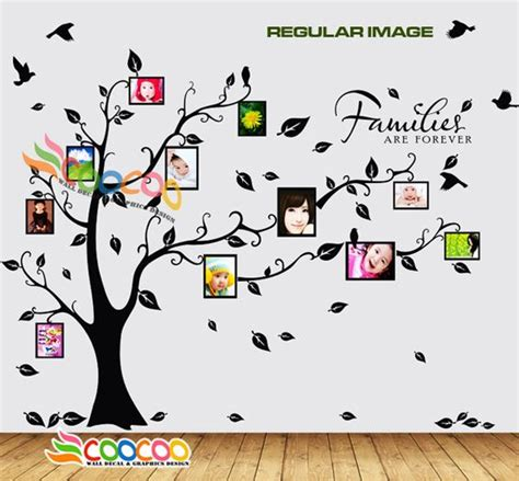 timber artbox large family tree photo frames wall decal large family tree wall decal f wall decal