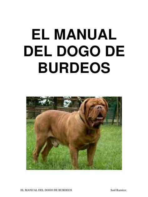el gran manual del el manual del dogo de burdeos